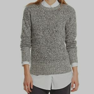 GAP Cable Knit Cotton Sweater Black and White XS